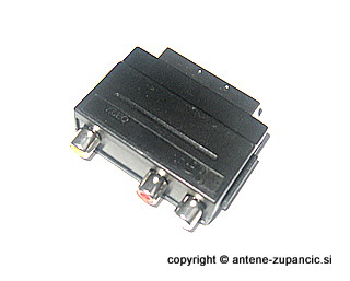 Adapter 1 x scart / 3 x chinch IN